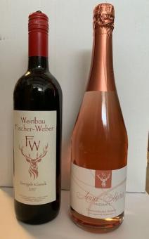 G) Wein-Kisterl Rot/Frizzante 2er-Karton Weinbau Fischer-Weber (Baden):